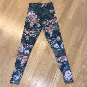 XS BlackMilk Nylon Floral Leggings